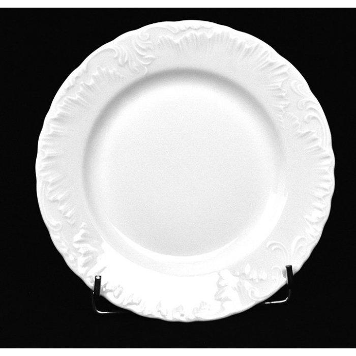 Talerz płytki biały 19cm Rococo Ćmielów I gat.