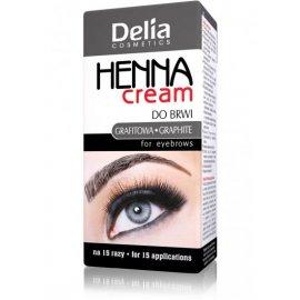 Henna do brwi w kremie grafitowa Delia