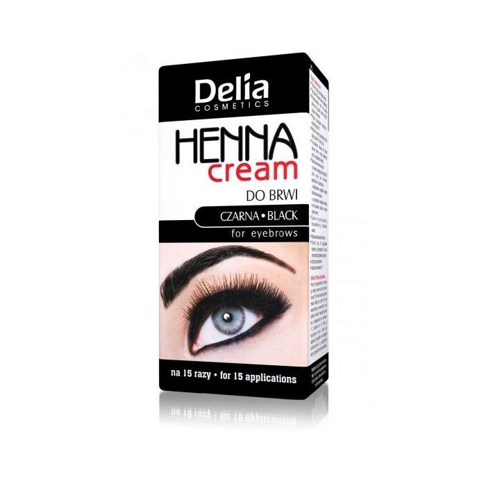 Henna do brwi w kremie czarna Delia