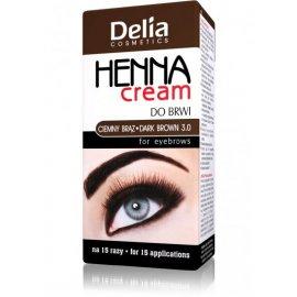 Henna do brwi w kremie brązowa Delia