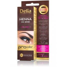 Henna do brwi żelowa ciemny brąz Delia