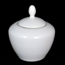 Cukiernica porcelanowa biała z serii Nadia.