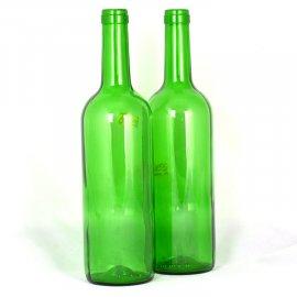 Butelka zielona do wina 0,75L szklana