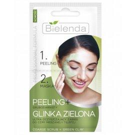 Peeling i maseczka Glinka Zielona Bielenda