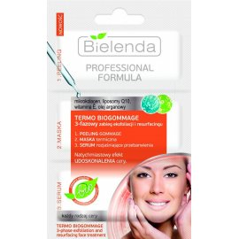 Peeling, serum i maseczka Termo Biogommage Bielenda