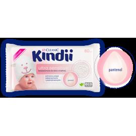 Chusteczki Ultra Sensitive dla skóry wrażliwej Kindii Cleanic 60