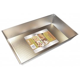 Blacha do pieczenia 39x23,5 fakturowana Silver SNB