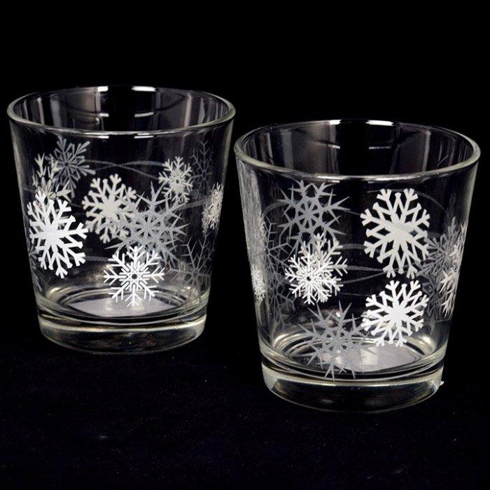 Szklanka Świecznik Płatki śniegu Sestriere Snowflakes