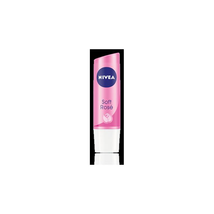 Pomadka NIVEA Soft Rose o zapachu kwiatu róży