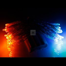 Lampki choinkowe na baterie AA 50 szt LED Multikolor Li-46M