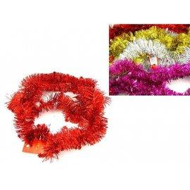 Dekoracja świąteczna: Łańcuch kolorowy z gwiazdkami