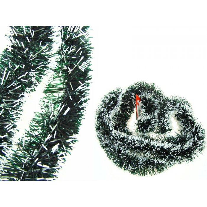 Łańcuch choinkowy Zielono-biały 2 metry/7 cm