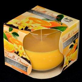 Świeca zapachowa w szkle Vanilla-Orange 24h Bispol