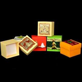 Pudełko ozdobne świąteczne na biżuterię 5x5