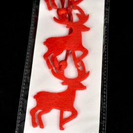 Renifer filc 3 szt. z koralikiem 8cm