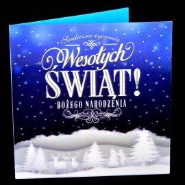 Kartka świąteczna Karnet 3D Zimowy Pejzaż