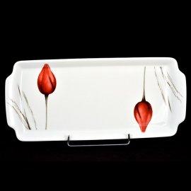 Taca do ciasta Roma tulipan czerwony 3830 Lubiana