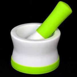 Moździerz z silikonową podstawą zielony