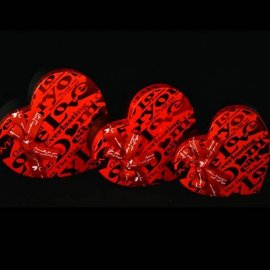 Pudełko serce średnie 22x20x8,5cm czerwone