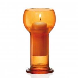 Świecznik szklany pomarańczowy Lucilla