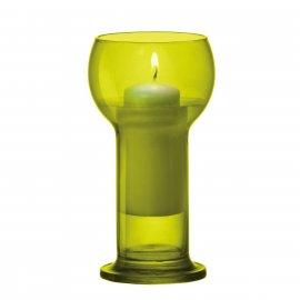 Świecznik szklany limonkowy Lucilla