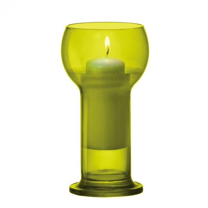 Świecznik szklany pomarańczowy