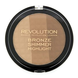 Puder 3 kolorowy Bronze Shimmer Highlight Makeup Revolution