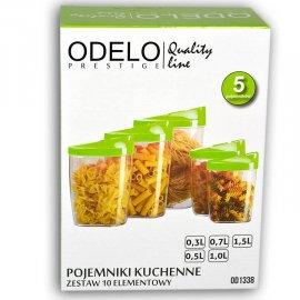 Pojemniki kuchenne 5 poj. 0,3 - 1L Odelo