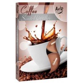 Podgrzewacz zapachowy Kawa Coffee świeczka Tealight 6szt Bispol