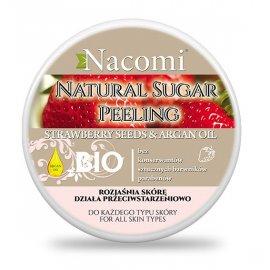 Naturalny Peeling Truskawka z masłem shea 100ml Nacomi