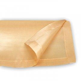 Bieżnik tafta złoty 45x143cm Krawędź zakładki/obszycia ma 2 cm.
