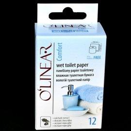 Nawilżany papier toaletowy Kora Dębu 12szt O'linear