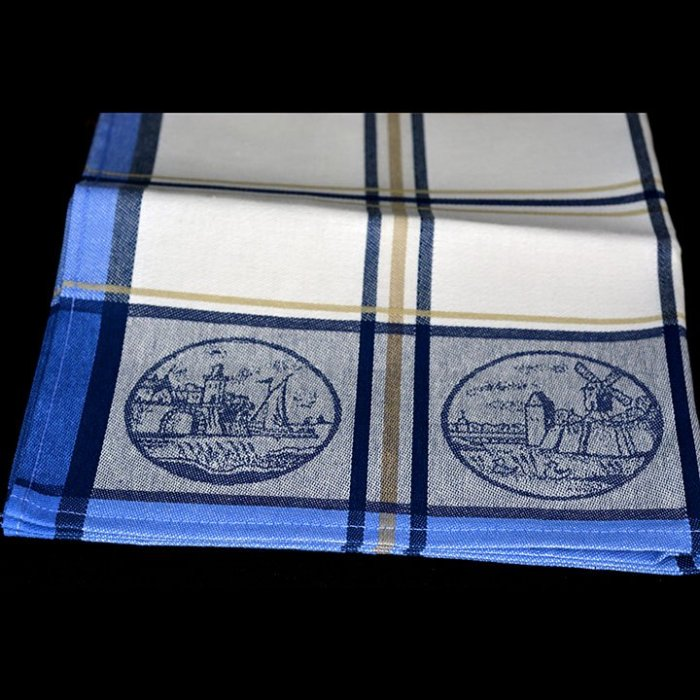 Dekoracyjna ścierka kuchenna 50x70 niebieska