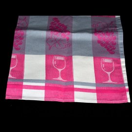 Dekoracyjna ścierka kuchenna 50x70 szaro-różowa