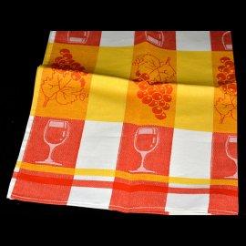 Dekoracyjna ścierka kuchenna 50x70 pomarańczowa