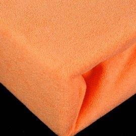 Prześcieradło pomarańczowe Frotte z gumką 160x200