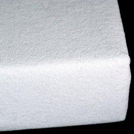 Prześcieradło białe Frotte z gumką 180x200