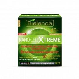 Nano Cell Xtreme Krem przeciwzmarszczkowy 45+ na noc Bielenda