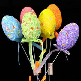 Jajko styropianowe dekoracja na patyku 6cm