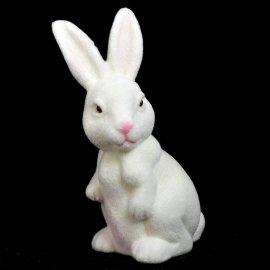 Zajączek biały 18 cm Wielkanocna figurka dekoracja