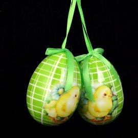 Jajko zielone z kurczakiem i wstążką do powieszenia 7,5