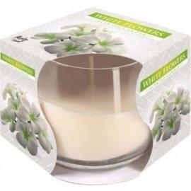 Świeca zapachowa w szkle Białę kwiaty 24h Bispol