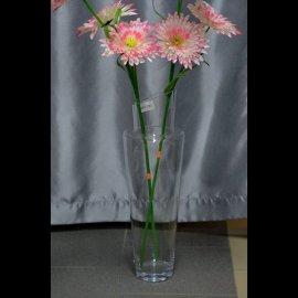 Wazon szklany wys 51 cm skośny