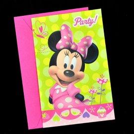 Zaproszenie Minnie Party Disney 1 szt