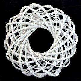 Wianek luźny wiklinowy 24cm biały dekoracyjny