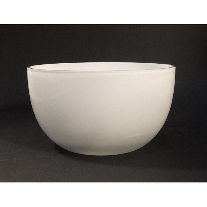 Salaterka szklana biała 14-3079A