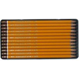 Ołówki grafitowe w metalowej kasecie 12 szt 8B-2H KOH-I-NOOR