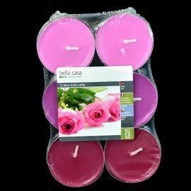 Świece zapachowe Maxi 12 szt. duży podgrzewacz Róża