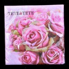 Serwetki 20szt Róże TETEaTETE