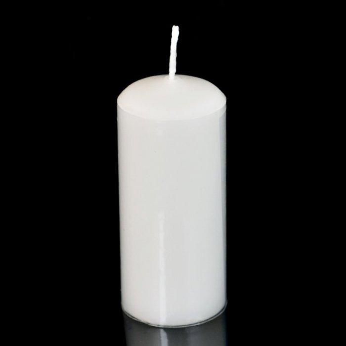 Świeca słupek walec biała 40/90 mm